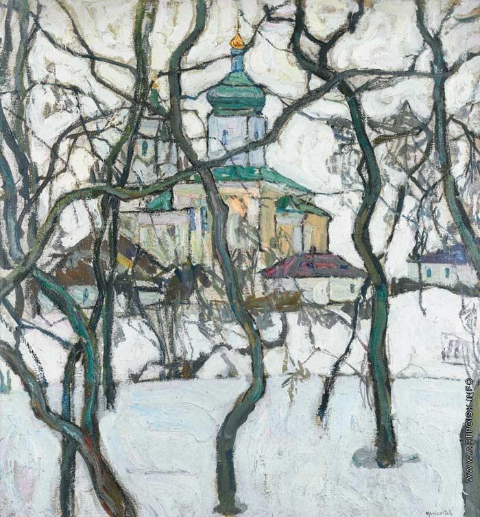 Маневич а а зимний пейзаж с церковью