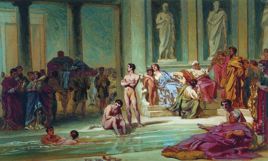 Римские развратные бани видео