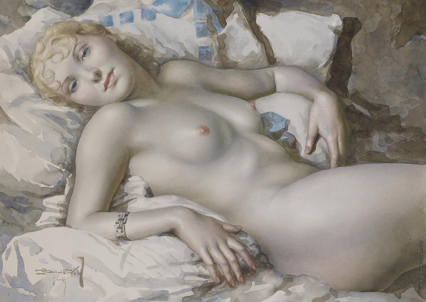 Ретро рисунки голых женщин, Старые, классические, ретро эротические фотографии 6 фотография
