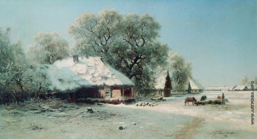 Зимний пейзаж - Каменев Л. Л. :: Артпоиск - русские художники