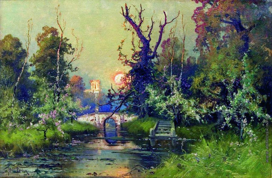 В парке Гатчинского дворца - Клевер Ю ...: artpoisk.info/artist/klever_yuliy_yul_evich_1850/v_parke...