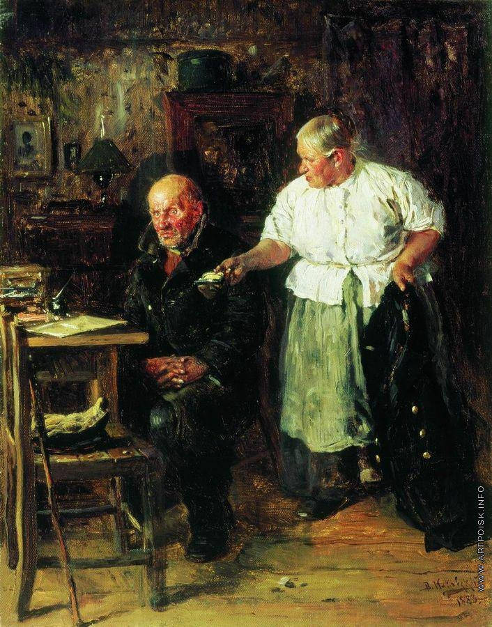 Image result for В. Е. Маковский «Выговор» 1883.