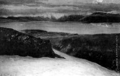 Борисов А. А. Вид на пролив Маточкин шар и горы Вильчики (Новая Земля)