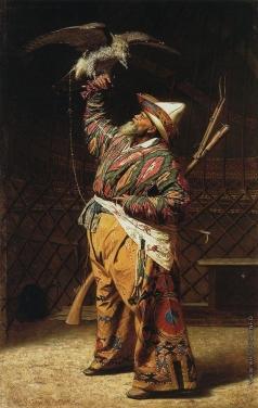 Верещагин В. В. Богатый киргизский охотник с соколом