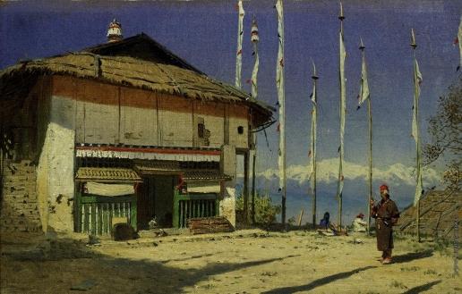 Верещагин В. В. Буддийский храм а Дарджилинге. Сикким