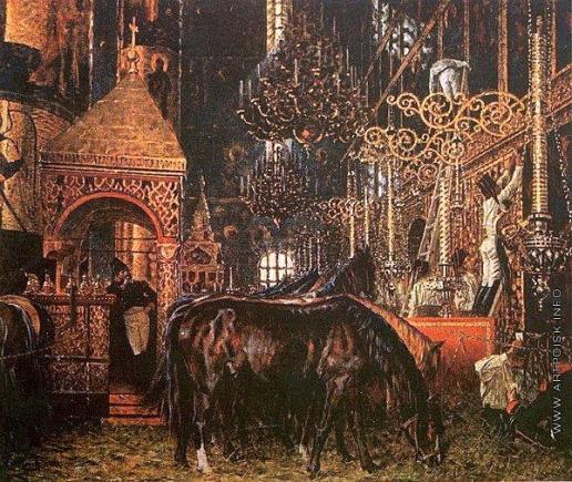 Верещагин В. В. В Успенском соборе