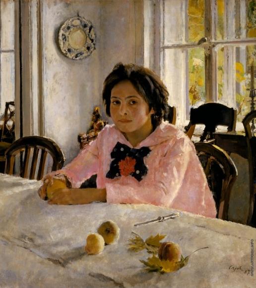 Серов В. А. Девочка с персиками. Портрет Веры Мамонтовой