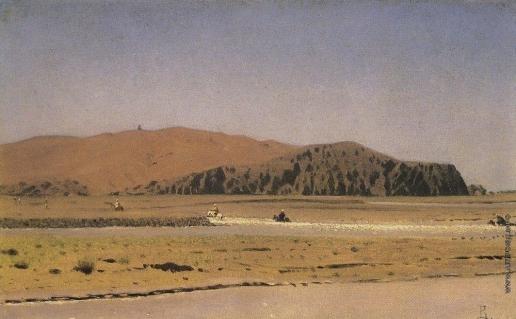 Верещагин В. В. Всадники, переплывающие реку