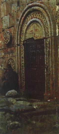 Верещагин В. В. Входная дверь в церковь под Казбеком