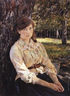 Серов В. А. Девушка, освещённая солнцем. Портрет М.Я.Симонович