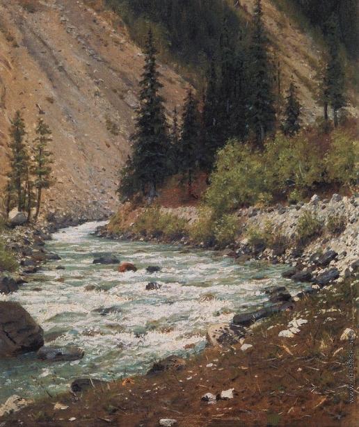 Верещагин В. В. Горный ручей в Кашмире