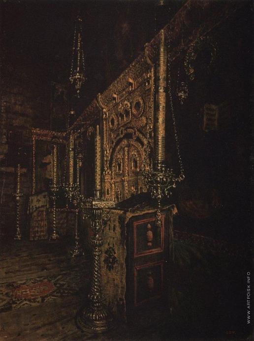 Верещагин В. В. Иконостас церкви Иоанна Богослова на Ишне близ Ростова Ярославского