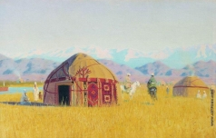 Верещагин В. В. Киргизские кибитки на реке Чу