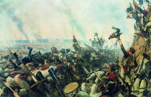 Верещагин В. В. Конец Бородинского боя