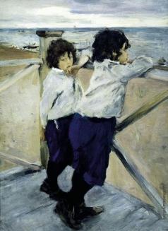 Серов В. А. Дети (Саша и Юра Серовы)