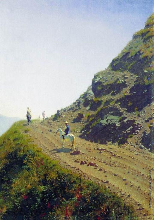 Верещагин В. В. Кочевая дорога в горах Алатау