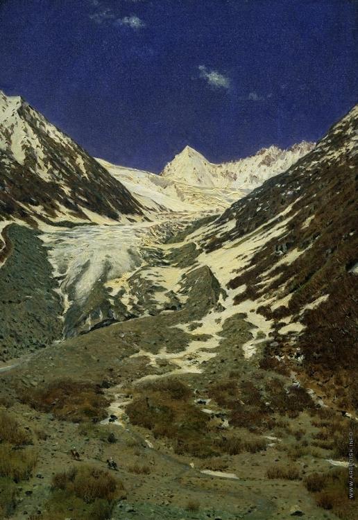 Верещагин В. В. Ледник по дороге из Кашмира в Ладакх