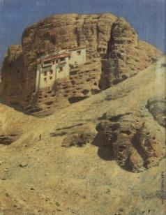 Верещагин В. В. Монастырь в скале. Ладакх