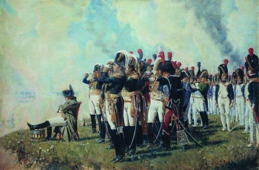 Верещагин В. В. Наполеон I на Бородинских высотах