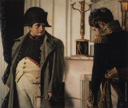 """Верещагин В. В. Наполеон и маршал Лористон (""""Мир во что бы то ни стало!"""")"""