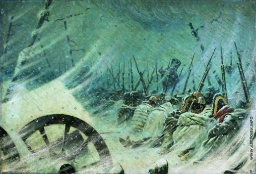 Верещагин В. В. Ночной привал великой армии