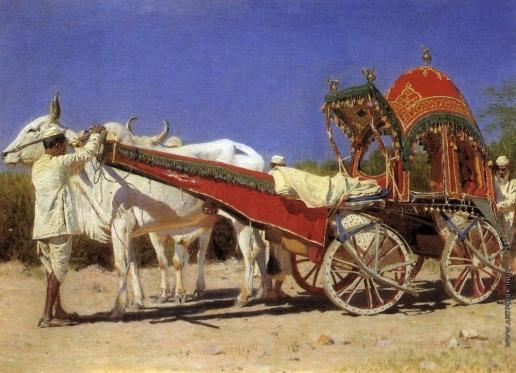 Верещагин В. В. Повозка богатых людей в Дели