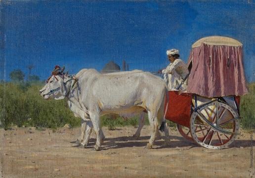 Верещагин В. В. Повозка в Дели