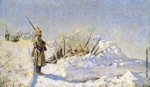 Верещагин В. В. Снежные траншеи (Русские позиции на Шипкинском перевале)