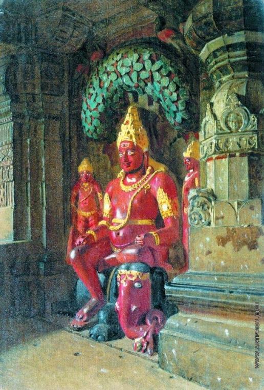 Верещагин В. В. Статуя Вишну в храме Индры в Эллоре