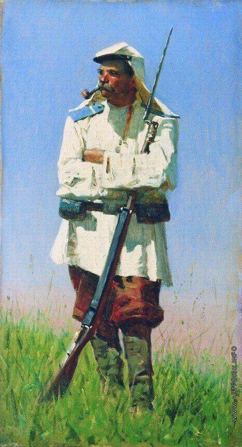 Верещагин В. В. Туркестанский солдат в зимней форме