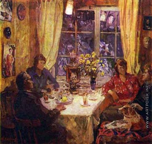 Максимов К. М. Вечерний чай. Моя семья