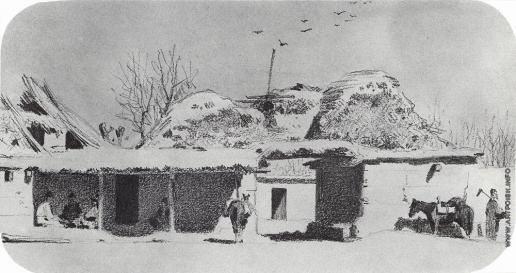 Верещагин В. В. Улица в деревне Ходжагенте