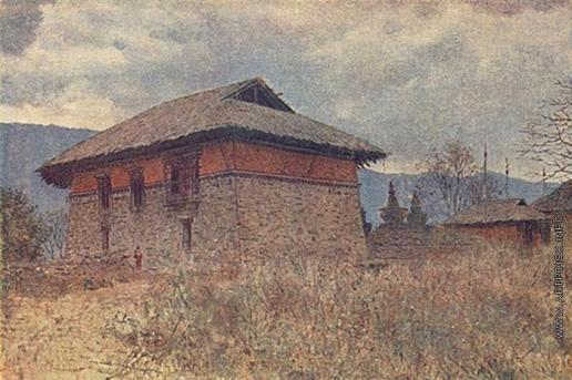Верещагин В. В. Главный храм монастыря Тассидинг. Сикким