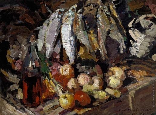 Коровин К. А. Рыбы, вино, фрукты