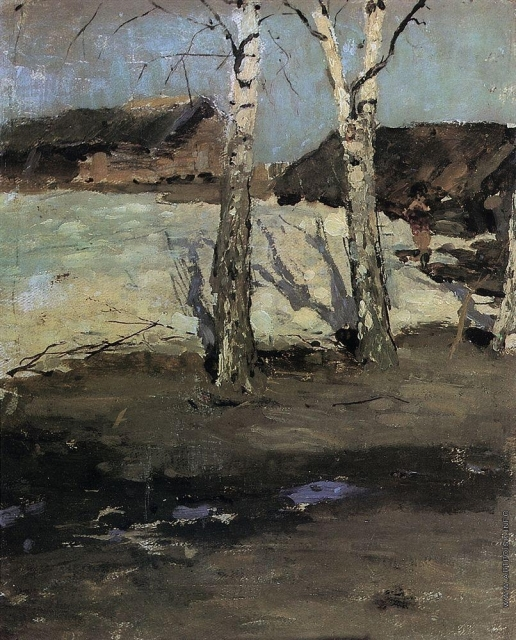 Коровин К. А. Последний снег