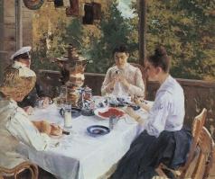 Коровин К. А. За чайным столом