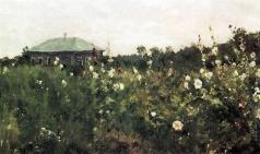 Коровин К. А. Мальвы в Саратовской губернии