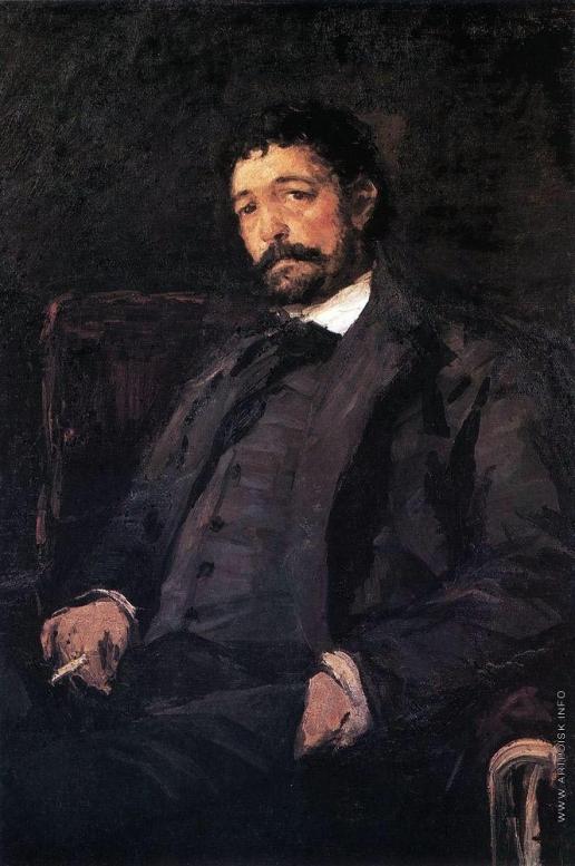 Коровин К. А. Портрет итальянского певца Анджело Мазини