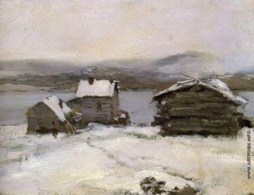 Коровин К. А. Зима в Лапландии