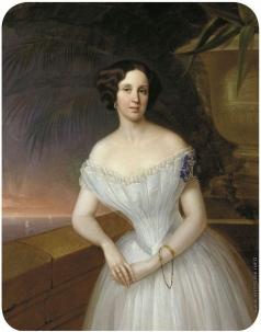Яковлев Г. И. Парадный женский портрет (Портрет фрейлены)
