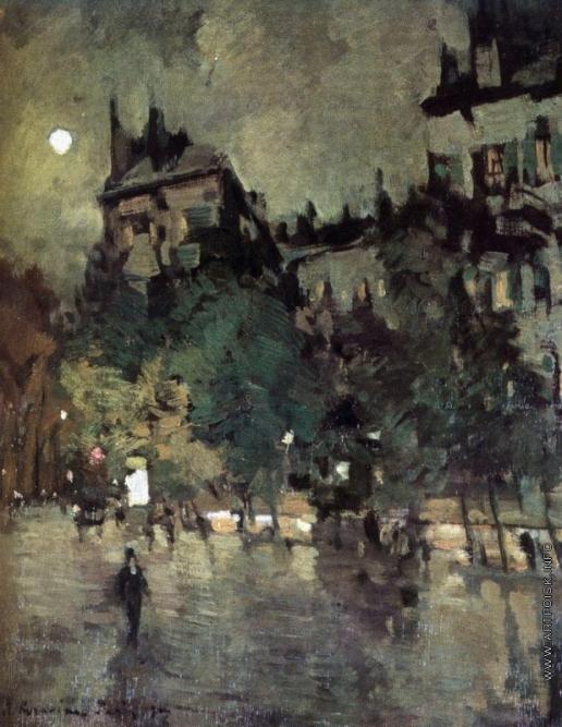 Коровин К. А. Париж после дождя