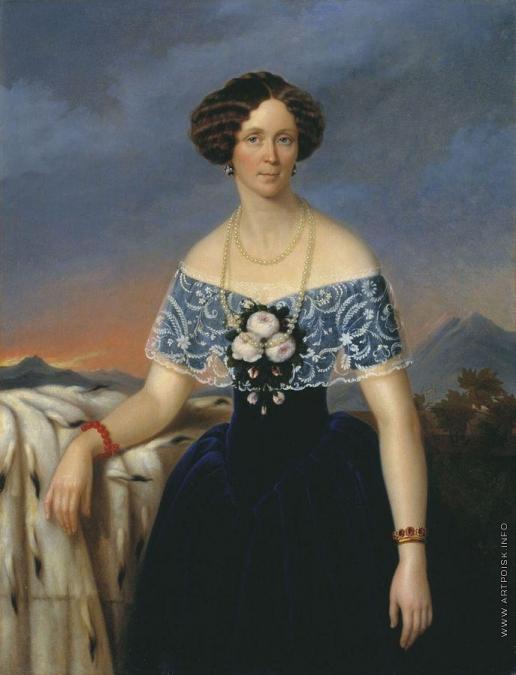Яковлев Г. И. Портрет неизвестной в синем платье