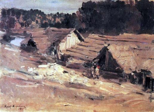 Коровин К. А. Вид поселка. Кемь