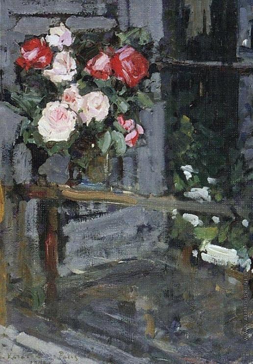 Коровин К. А. Розы. Вечер