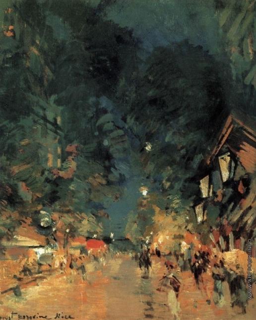 Коровин К. А. Ницца. Улица ночью