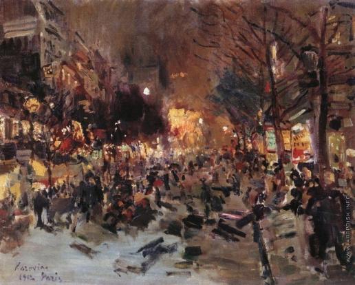 Коровин К. А. Бульвар в Париже