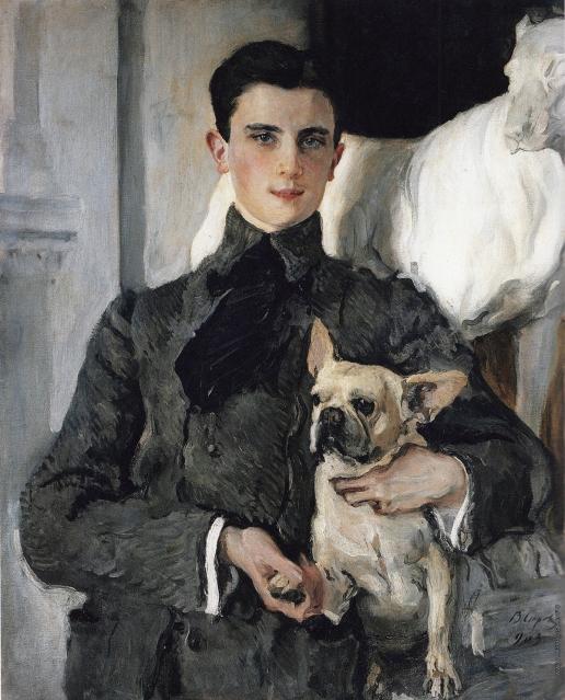Серов В. А. Портрет графа Ф.Ф. Сумарокова-Эльстон, впоследствии князя Юсупова, с собакой