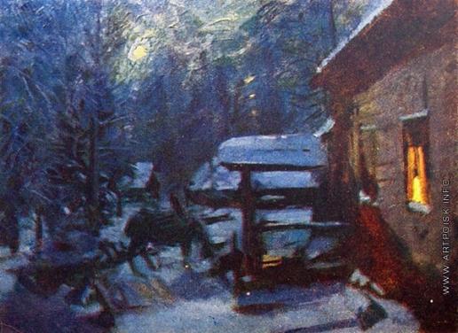 Коровин К. А. Лунная ночь. Зима