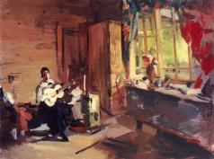 Коровин К. А. Девушка с гитарой