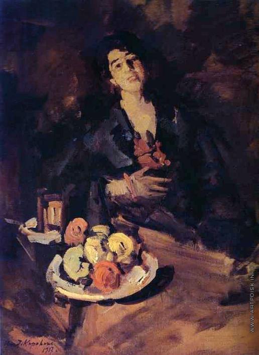 Коровин К. А. Портрет женщины